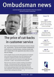 Ombudsman News, issue 76 - Financial Ombudsman Service