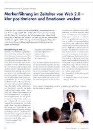 Markenführung im Zeitalter von Web 2.0 - Stier Communications AG ...