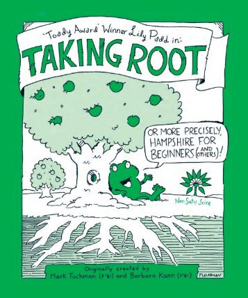 Taking Root was conceived  and  created by ... - Hampshire College