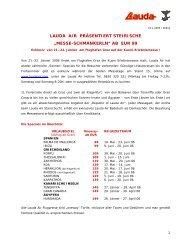 """MESSE-SCHMANKERLN"" AB EUR 99 - Lauda Air"
