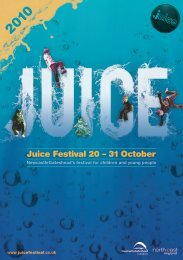 Juice Festival 20 – 31 October - Newcastle Gateshead