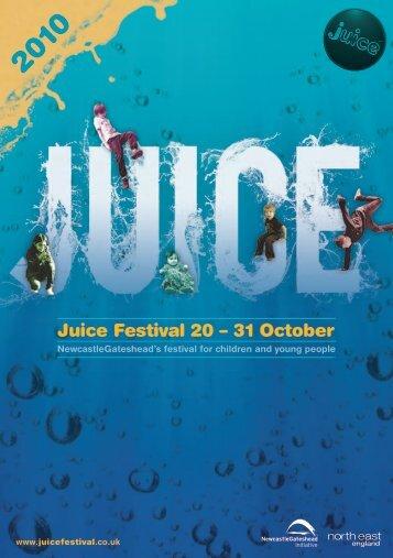 Juice Festival 20 – 31 October - Newcastle Gateshead