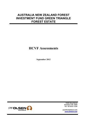 HCVF Assessments - PF Olsen Limited