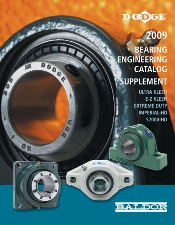 BEARING ENGINEERING CATALOG SUPPLEMENT