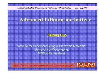 Advanced Lithium-ion battery - ainse