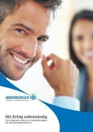"""Broschüre """"Mit Erfolg selbstständig"""" - Nürnberger Versicherung AG"""