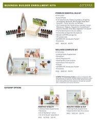 BUSINESS BUILDER ENROLLMENT KITS - dōTERRA - Essential Oils