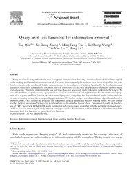 Query-level loss functions for information retrieval