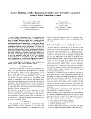 Formal Modeling of Safety Requirements in the Model-Driven ...