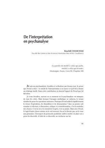 Chamcham R. - Faculté des Lettres et des Sciences Humaines Ben ...