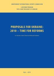proposals for ukraine: 2010 – time for reforms - US-Ukraine ...