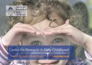 MA in Education (Early Years) - Centre for Research in Early ...