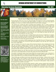 Education Services Newsletter Fall 2011 - Nevada Department of ...