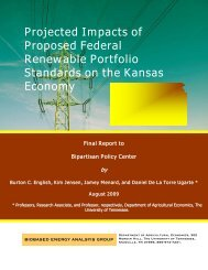 Projected Impacts of Proposed Federal Renewable Portfolio ...
