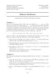 Übungsblatt 7 - Lehrstuhl für Effiziente Algorithmen