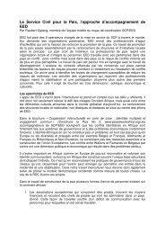 Le Service Civil pour la Paix, l'approche d ... - Peaceworkafrica
