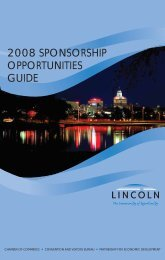 2008 sponsorship opportunities guide - Lincoln Chamber of ...