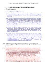 37. § 128 GWB - Kosten des Verfahrens vor der Vergabekammer