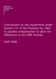 Consultation on the requirement under Section 171 of the Pensions ...