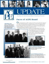 ACPE Executive Committee — Officer Achievements