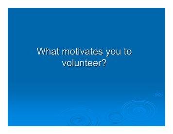 Training and Managing Volunteers