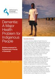 Dementia: A Major Health Problem for Indigenous People