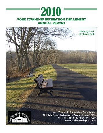 2010 York Township Recreation Department Annual Report