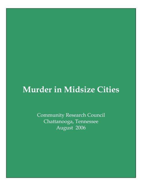 Murder in Midsize Cities - Ochs Center for Metropolitan Studies