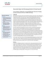 Executives Span the Developing World at Virtual Summit - Cisco