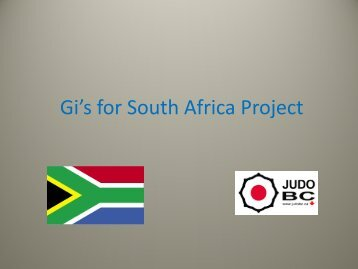 Gi's for South Africa Project - Judo BC