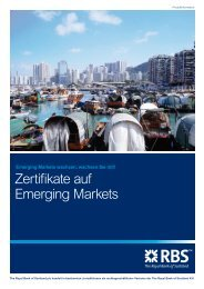Zertifikate auf Emerging Markets - Infoboard