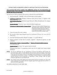 Bond Instructions RC-L-220I - Arizona Registrar of Contractors