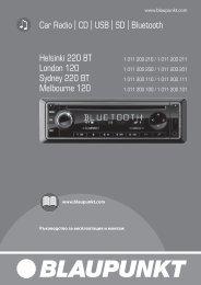 Helsinki 220 BT / London 120 / Sydney 220 BT ... - Blaupunkt