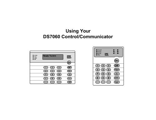 Using Your DS7060 Control/Communicator - ADT Security