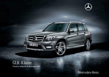 GLK - Klasse. - Preislisten