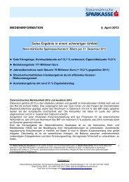 Bilanz per 31. Dezember 2012 - Steiermärkische Sparkasse
