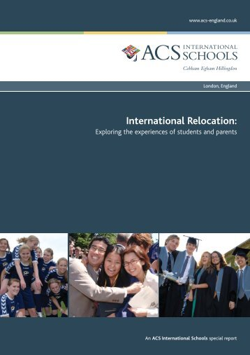International relocation: exploring the experiences of students and ...