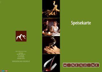 Speisekarte - Hotel Bergland