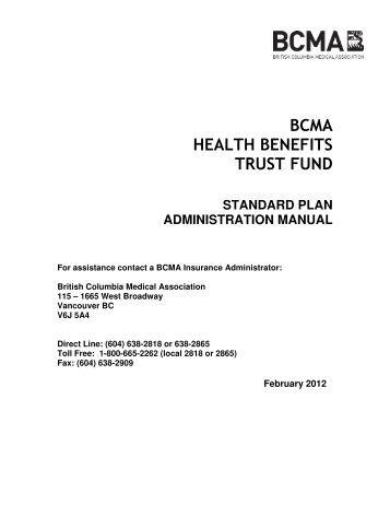 bcma health benefits trust fund - British Columbia Medical Association