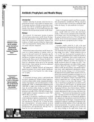 Antibiotic Prophylaxis and Needle Biopsy - The Permanente Journal