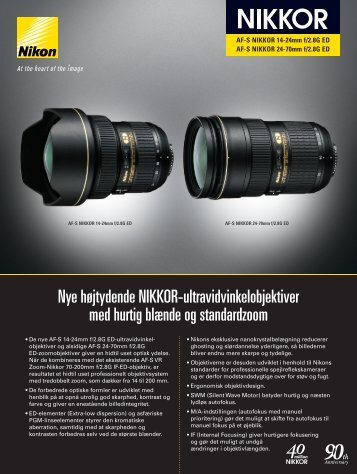 Nye højtydende NIKKOR-ultravidvinkelobjektiver med hurtig ... - Nikon