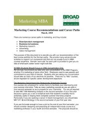 Marketing Course Recommendations and Career Paths
