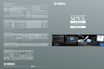 M7CL Specifications - Yamaha Downloads