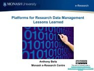 Platforms for Research Data Management Lessons Learned