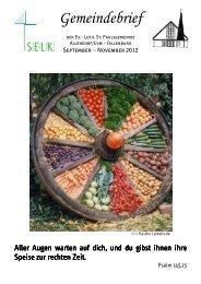 Gemeindebrief Sept.-Nov. 2012 - Allendorf/Ulm