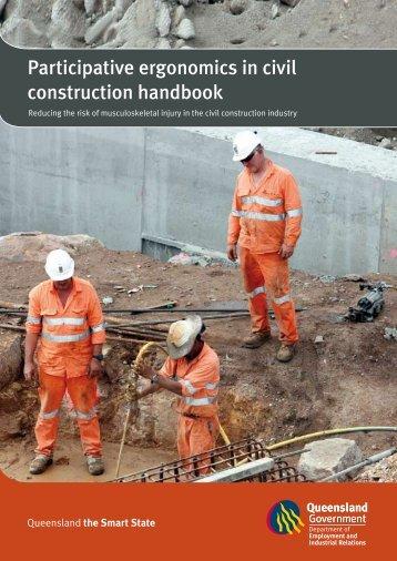 Participative ergonomics in civil construction handbook. Reducing ...