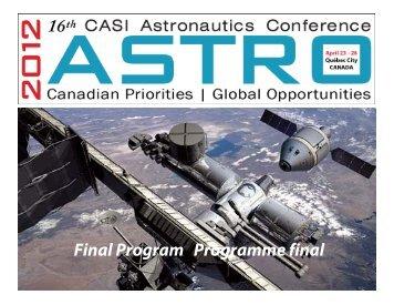 ASTRO'12! - Canadian Aeronautics and Space Institute