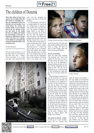 The children of Donetsk