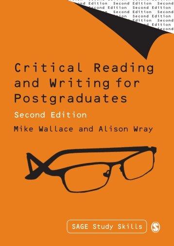 Critical Reading and Writing for Postgraduates - Doctorado en ...