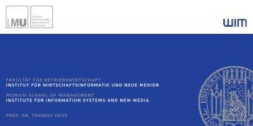 WIM Flyer Web.indd - Institut für Wirtschaftsinformatik und neue ...